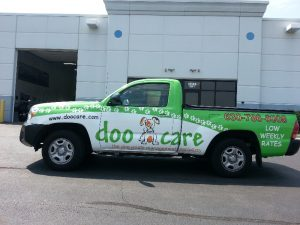 Commercial Truck Wraps doo care drivers 300x225