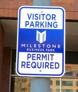 Informational Signs 5b7da556274c9 custom parking outdoor metal traffic sign safety wayfinding 256x300